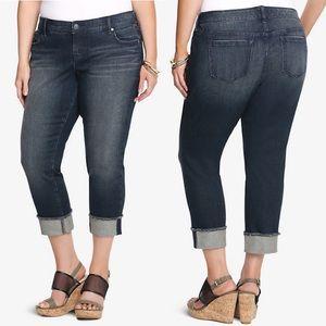 Torrid Boyfriend Skinny Cropped Flip Flop Jeans